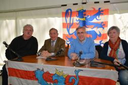 Erfgoeddag 2017 Een gespek met zorgverleners. Nico Blontrock, William Degroote, Luc Delaere en monique Vandenabeele 23 april 2017 ® Michel Van den Brande