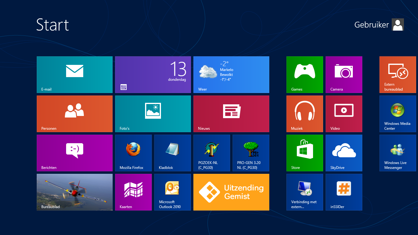 Windows 8 startscherm gudhova for Windows 8 bureaublad