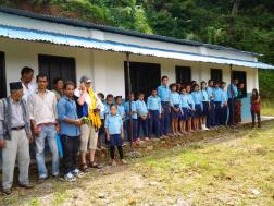 Visiting Syangja deaf school