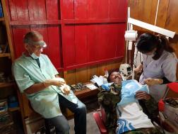 Dental work in our Medical post in Chitre