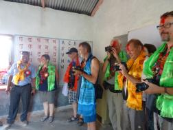 Sponsors visiting our school